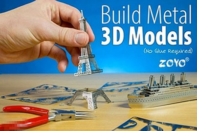 [Eiffel Tower Metallic Puzzle @ 57% Savings!] B$15.90 instead of B$37 for a unit of Metallic Nano 3D Puzzle. (available in 8 designs) Redemption at SD HQ, Anggerek Desa / D2D Delivery (B$2 charge) - VIEW highlight for other designs