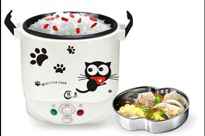 [Lovely Cat Mini Rice Cooker @ 72% Savings!] B$33.90 instead of B$119 for a unit of Korean style Mini Rice Cooker. Redemption at SD HQ, Anggerek Desa / D2D Delivery (B$2 charge)