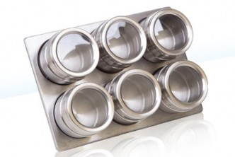 [Magnetic Spice Rack @ 71% Savings!] B$13.9 instead of B$48 for a unit of 6-Piece Magnetic Spice Rack. Redemption at SD HQ, Gadong