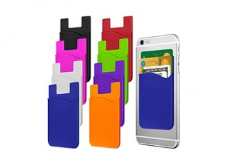 U.S. Deal [4x Smartphone Card Holder @ 83% Savings!] B$10 instead of B$59 for 4pcs of Silicone Adhesive Stick-on Cellphone Back Wallet. Redemption at SD HQ, Gadong.