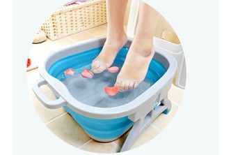 [Foldable Foot Spa Basin @ 46% Savings!] B$25 instead of B$46 for a unit of Multipurpose Foldable Foot Spa Basin . Redemption at SD HQ, Gadong