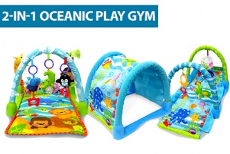 [Child's Play Gym @ 53% Savings!] B$65 instead of B$139 for a unit of 2IN1 Oceanic Play Gym. Redemption at SD HQ, Anggerek Desa