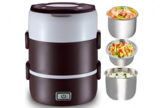 [3-Tier Lunch Box @ 53% Savings!] B$27.9 instead of B$59.9 for a unit of SOKANO 3 Tier Electrical Multifunctional Lunch Box. Redemption at SD HQ, Gadong.