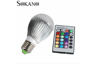 [15 Colours + 4 Mode SOKANO Magic Bulb@ 26% Savings!] B$14.9 instead of B$20 for a unit of SOKANO Magic Bulb with Remote Control (15 Colours and 4 Mode). Redemption at SD HQ, Gadong