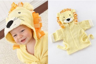 [Baby Hooded Bathrobe @ 79% Savings!] B$10 instead of B$48 for a unit of Baby Hooded Bathrobe with Animal Design. Redemption at SD HQ, Gadong