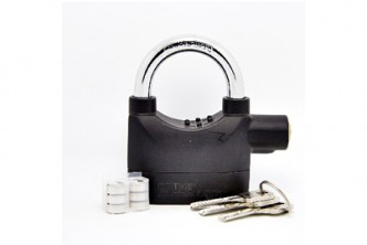 [Alarm Padlock @ 52% Savings!] B$16.90 instead of B$35 for a unit of Maximum Security Alarm Lock With 110db Ultra Loud Sound Protection. Redemption at SD HQ, Anggerek Desa