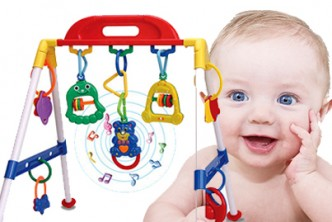 [Baby Music Gym @ 60% Savings!] B$32 instead of B$79.9 for a unit of Baby Music Play Gym Infant Children's Play. Redemption at SD HQ, Anggerek Desa