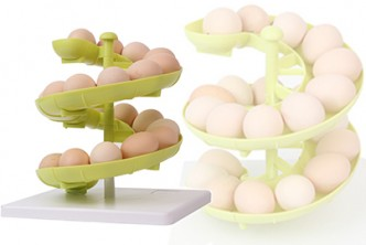 [Eggs Slide Rack @ 69% Savings!] B$8.9 instead of B$29 for a unit of Slide-shaped Eggs Rack Holder. Redemption at SD HQ, Gadong