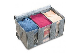 [65L Bamboo Charcoal Clothes Storage Bag Organizer Case @ 56% Savings!] B$11 instead of B$25 for a unit of 65L Bamboo Charcoal Clothes Storage Bag Organizer Case. Redemption at SD HQ, Gadong