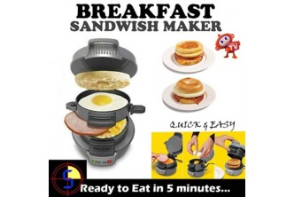 All at One-Go!! [Breakfast Sandwich Maker @ 63% Savings!] B$59 instead of B$159 for a unit of Breakfast Sandwich Maker. Redemption at SD HQ, Anggerek Desa