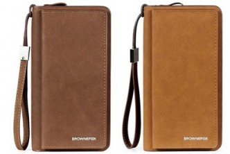 *Premium Leather [BrowneFox Men Long Wallet @ 72% Savings!] B$19 instead of B$68 for a unit of BROWNEFOX Premium Men Long Wallet- Dark Brown,  Redemption at SD HQ, Gadong