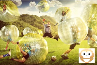*2 players [Bubble Battle! @ 56% Savings!] B$16 instead of B$36 for a 45mins session of Bubble Sumo / Bubble Soccer + Archery Tag for 2 person (weekdays only), Bubble Monkey, Kiulap.