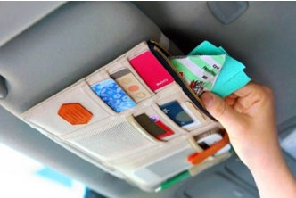 [Car Visor Organiser @ 45% Savings!] B$9.9 instead of B$18 for a unit of Car Sun Visor Organizer. Redemption at SD HQ, Gadong.