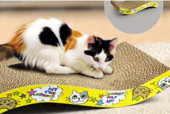 [Feline's Toys @ 64% Savings!] B$10 instead of B$28 for a unit Corrugated Scratching Cat Toy Brown. Redemption at SD HQ, Gadong.