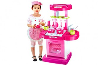 [Pink Kitchen Playset @ 71% Savings!] B$31.9 instead of B$109 for a unit of Children Kitchen Playset (Pink). Redemption at SD HQ, Gadong