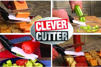 [Clever Cutter 2-in-1 Knife @ 55% Savings!] B$18 instead of B$39.9 for a unit of Clever Cutter 2-in-1 Knife & Cutting Kitchen Tools Board Black Scissors Slicers. Redemption at SD HQ, Anggerek Desa