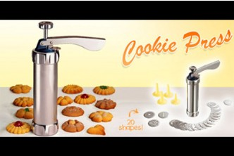 [Cookie Press @ 75% Savings!] B$9.9 instead of B$38.9 for a unit of Deluxe Cookie Press Biscuit Maker. Redemption at SD HQ, Anggerek Desa