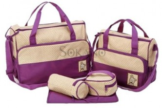 [SOKANO Diaper Bag @ 49% Savings!] B$23 instead of B$45 for a set 5 in 1 Mummy Essential Diaper Bag. Redemption at SD HQ, Gadong.