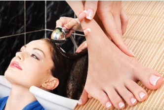 Mother's Day Special [5in1 Head to Toe Total Treatment @ 69% Savings!] B$25 instead of B$80 for a session of  Hair Scalp treatment+ Hair Wash + Foot Spa + Manicure + Pedicure  at Diana Hairdressing & Beauty Salon, Menglait.