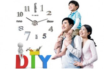 [Classy DIY Wall Clock @ 65% Savings!] B$24 instead of B$68 for a unit of DIY 3D Wall Clock Sticker for Home/Office. Redemption at SD HQ, Anggerek Desa