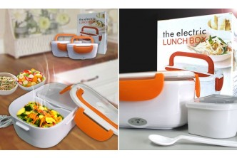 [Dual Compartment Electric Lunch Box @ 67% Savings!] B$15 instead of B$45 for a unit of Dual Compartment Electric Lunch Box. Redemption at SD HQ, Gadong