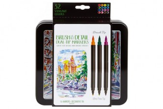 U.S. Deal [Dual Tip Brush Markers @ 44% Savings!] B$25 instead of B$45 for a unit of Dual-Tip with Ultra Fine Brush Marker. Redemption at SD HQ, Gadong.
