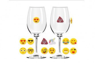 U.S. Deal [Emoji Universal Drink Markers @ 60% Savings!] B$20 instead of B$50 for a set of Emoji Universal Drink Markers. Redemption at SD HQ, Gadong.