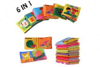 [6Fabric Book @ 48% Savings!] B$15 instead of B$29 for 6 pieces of Baby Rattles Toy Fabric Book For Newborn Learner. Redemption at SD HQ, Gadong.