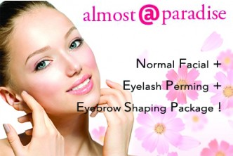 [Almost @ Paradise Face Treatment @ 63% Savings!] B$29.90 instead of B$80 for Normal Facial + Eyelash Perming + Eyebrow shaping at Almost Paradise, Tungku Link