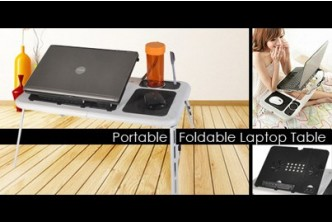 [Foldable Laptop Table + Cooling Pad @ 75% Savings!] B$25 instead of B$99.90 for a unit of Portable Foldable Laptop Table with Cooling System. Redemption at SD HQ, Gadong