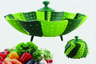 [Foldable Silicone Basket @ 72% Savings!] B$8 instead of B$29 for a unit of Foldable Silicone Basket As Steamer and Serving Tray for Fruit and Vegetable . Redemption at SD HQ, Gadong