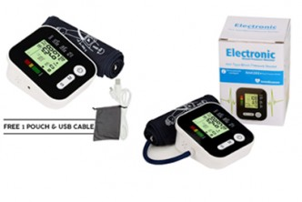 [5IN1 Heart Monitor @ 68% Savings!] B$32 instead of B$99 for a unit of Arm Blood Pressure Heart Monitor LCD Adapter 5IN1. Redemption at SD HQ, Gadong.