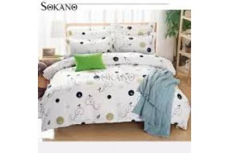[Sokano 4IN1 White/Blue Bedsheet @ 61% Savings!] B$18.9 instead of B$48 for a unit of SOKANO 4IN1 Premium Bedsheet Bedding Set. Redemption at SD HQ, Gadong