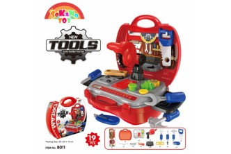 [Sokano Kid's Engineer Set @ 44% Savings!] B$16.9 instead of B$30 for a unit of SOKANO TOY 8011 Junior Tools Engineer Kids Role Play Pretend - Red. Redemption at SD HQ, Gadong.