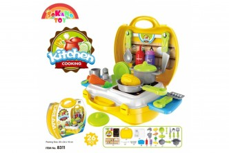 [SOKANO Kid's Kitchen Set @ 44% Savings!] B$16.9 instead of B$30 for a unit of SOKANO Kid's Kitchen Set. Redemption at SD HQ, Gadong.