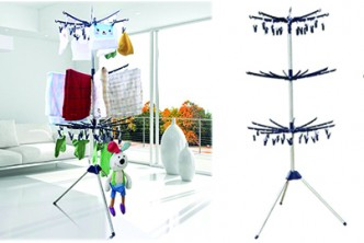 [Foldable Cloth Racks @ 65% Savings!] B$45 instead of B$129 for a unit of MD9016 3 Tiers Foldable Cloth Hanger and Drying Racks (Outdoor and Indoor Use)  .Redemption at SD HQ, Anggerek Desa