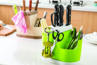 Raya Special* [Knife Racks @ 72% Savings!] B$5 instead of B$18 for a unit of Kitchen Tableware Plastic Organizer Knife Racks Redemption at SD HQ,Gadong.
