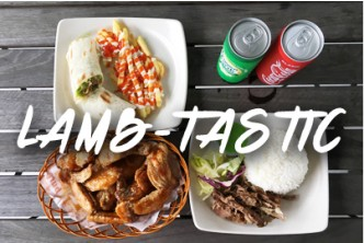 Rezz Kitchen - 'LAMB-TASTIC 'Year-End Promo @ [50% Savings! ] B$10 instead of B$20 for 3 x Chicken Wings with Sauce Berado [2 sets] + Lamb Wrap with Fries + Lamb Rice + 2 Canned Drinks at KPG Lambak Kiri.
