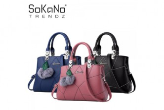 [Sokano Trendz Leather Tote Bag @ 51% Savings!] B$28.9 instead of B$59 for a unit of SoKaNo Trendz SKN836 Korean Style Shoulder PU Leather Tote Bag at SD HQ, Gadong.