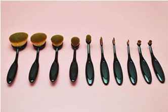 [10IN1 Oval Make Up Brush @ 60% Savings!] B$15 instead of B$38 for a set of 10IN1 Oval Make Up Brush. Redemption at SD HQ, Gadong.