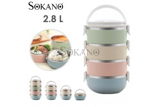 [SOKANO Multicolor Double Lunch Box @ 38% Savings!] B$18 instead of B$29 for a unit of SOKANO Multicolor Double Lunch Box. Redemption at SD HQ, Gadong.