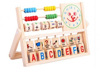 Time to learn! [Multifunctional Educational Wooden Toy @ 60% Savings!] B$7.9 instead of B$19.9 for a unit of Multifunctional Educational Wooden Toy With Number and Alphabet Learning,  Redemption at SD HQ, Gadong