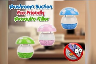 [Mushroom LED Mosquito Killer @ 77% Savings!] B$10 instead of B$43 for a unit of SOKANO Mushroom LED Photocatalyst Mosquito Killer with Suction. Redemption at SD HQ, Gadong.