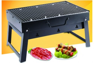 [Portable BBQ Grill @ 60% Savings!] B$35 instead of B$88 for a unit of Portable Handheld Folding Steel BBQ Grill.Redemption at SD HQ, Anggerek Desa