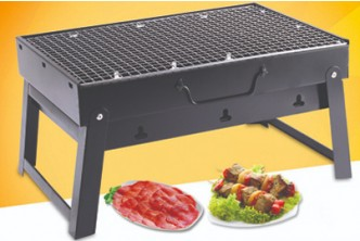 [Portable BBQ Grill @ 64% Savings!] B$20 instead of B$55 for a unit of Portable Handheld Folding Steel BBQ Grill. Redemption at SD HQ, Gadong.
