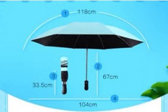 [Foldable Reversible Umbrella @ 49% Savings!] B$29.9 instead of B$59 for a unit Foldable Reverse Inverted Umbrella. Redemption at SD HQ, Gadong.