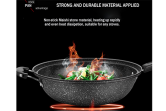 [Stone Frying Pan with Vacuum Pressure Lid @ 72% Savings!] B$22 instead of B$79 for a unit of 32cm Stone Frying Pan with Vacuum Pressure Lid Cover. Redemption at SD HQ, Gadong