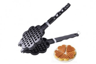 [Heart-shape Waffle Maker @ 59% Savings!] B$19.9 instead of B$49 for a unit of DIY Heart-Shaped Non stick Waffle Maker. Redemption at SD HQ, Gadong