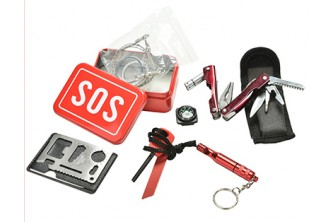 [6IN1 Emergency Survival Kit @ 61% Savings!] B$15 instead of B$38 for 6 in 1 SOS Emergency Box Outdoor Survival Kits. Redemption at SD HQ, Gadong