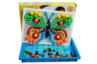 [SOKANO Kids Creative Mosaic Toy @ 64% Savings!] B$10 instead of B$28 for a unit of SOKANO Creative Mosaic Toy With Nails. Redemption at SD HQ, Gadong.